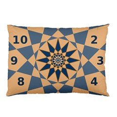Stellated Regular Dodecagons Center Clock Face Number Star Pillow Case (two Sides) by Alisyart