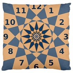Stellated Regular Dodecagons Center Clock Face Number Star Large Cushion Case (two Sides) by Alisyart