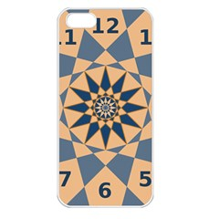 Stellated Regular Dodecagons Center Clock Face Number Star Apple Iphone 5 Seamless Case (white) by Alisyart