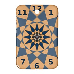 Stellated Regular Dodecagons Center Clock Face Number Star Samsung Galaxy Note 8 0 N5100 Hardshell Case  by Alisyart