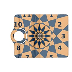 Stellated Regular Dodecagons Center Clock Face Number Star Kindle Fire Hd (2013) Flip 360 Case by Alisyart