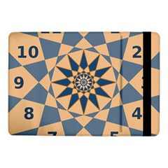 Stellated Regular Dodecagons Center Clock Face Number Star Samsung Galaxy Tab Pro 10 1  Flip Case by Alisyart