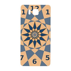 Stellated Regular Dodecagons Center Clock Face Number Star Samsung Galaxy Alpha Hardshell Back Case by Alisyart