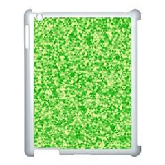 Specktre Triangle Green Apple Ipad 3/4 Case (white) by Alisyart