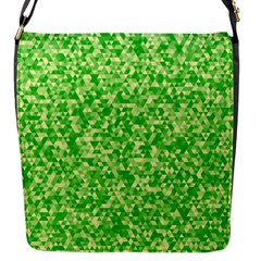 Specktre Triangle Green Flap Messenger Bag (s) by Alisyart