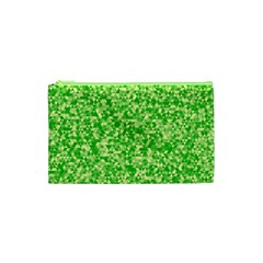 Specktre Triangle Green Cosmetic Bag (xs) by Alisyart