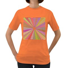 Tunnel With Bright Colors Rainbow Plaid Love Heart Triangle Women s Dark T Shirt by Alisyart