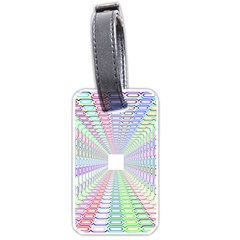 Tunnel With Bright Colors Rainbow Plaid Love Heart Triangle Luggage Tags (two Sides) by Alisyart