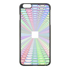 Tunnel With Bright Colors Rainbow Plaid Love Heart Triangle Apple Iphone 6 Plus/6s Plus Black Enamel Case by Alisyart
