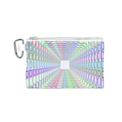 Tunnel With Bright Colors Rainbow Plaid Love Heart Triangle Canvas Cosmetic Bag (s) by Alisyart