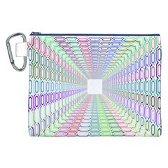 Tunnel With Bright Colors Rainbow Plaid Love Heart Triangle Canvas Cosmetic Bag (xxl) by Alisyart