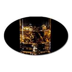 Drink Good Whiskey Oval Magnet by Onesevenart