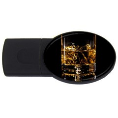 Drink Good Whiskey Usb Flash Drive Oval (2 Gb) by Onesevenart