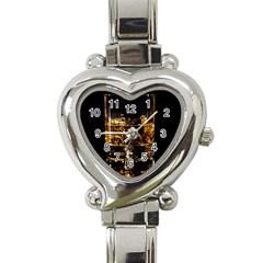 Drink Good Whiskey Heart Italian Charm Watch by Onesevenart