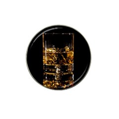 Drink Good Whiskey Hat Clip Ball Marker by Onesevenart