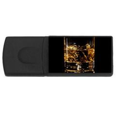 Drink Good Whiskey Usb Flash Drive Rectangular (4 Gb) by Onesevenart