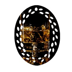Drink Good Whiskey Oval Filigree Ornament (two Sides) by Onesevenart