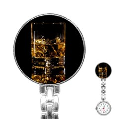 Drink Good Whiskey Stainless Steel Nurses Watch by Onesevenart