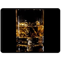 Drink Good Whiskey Double Sided Fleece Blanket (large)  by Onesevenart