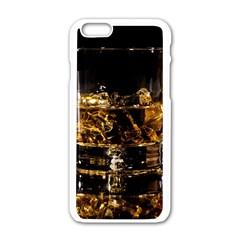 Drink Good Whiskey Apple Iphone 6/6s White Enamel Case by Onesevenart