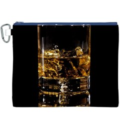 Drink Good Whiskey Canvas Cosmetic Bag (xxxl) by Onesevenart