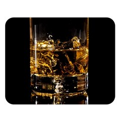 Drink Good Whiskey Double Sided Flano Blanket (large)  by Onesevenart