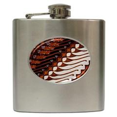 Traditional Batik Sarong Hip Flask (6 Oz) by Onesevenart