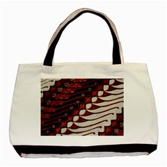 Traditional Batik Sarong Basic Tote Bag (two Sides) by Onesevenart