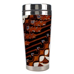 Traditional Batik Sarong Stainless Steel Travel Tumblers by Onesevenart