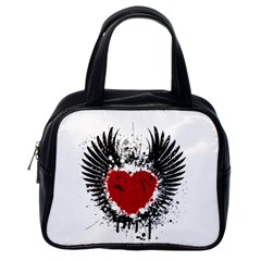 Wings Of Heart Illustration Classic Handbags (one Side) by TastefulDesigns