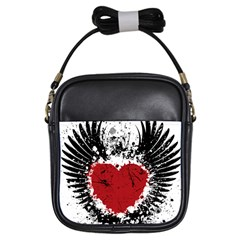 Wings Of Heart Illustration Girls Sling Bags by TastefulDesigns