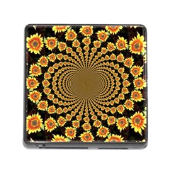 Psychedelic Sunflower Memory Card Reader (square) by Photozrus