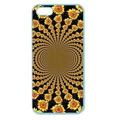 Psychedelic Sunflower Apple Seamless Iphone 5 Case (color) by Photozrus