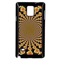 Psychedelic Sunflower Samsung Galaxy Note 4 Case (black) by Photozrus