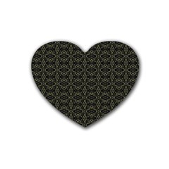 Dark Interlace Tribal  Heart Coaster (4 Pack)  by dflcprints