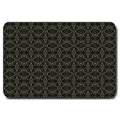 Dark Interlace Tribal  Large Doormat  by dflcprints