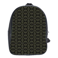 Dark Interlace Tribal  School Bags(large)  by dflcprints