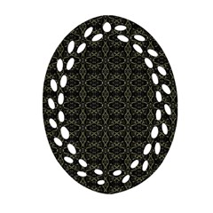 Dark Interlace Tribal  Oval Filigree Ornament (two Sides) by dflcprints