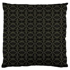 Dark Interlace Tribal  Large Cushion Case (two Sides)