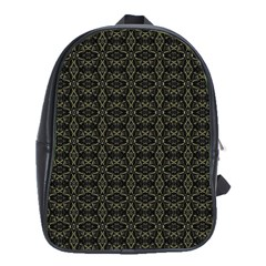 Dark Interlace Tribal  School Bags (xl)  by dflcprints