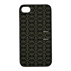 Dark Interlace Tribal  Apple Iphone 4/4s Hardshell Case With Stand by dflcprints