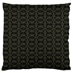 Dark Interlace Tribal  Large Flano Cushion Case (two Sides) by dflcprints