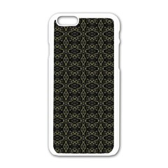 Dark Interlace Tribal  Apple Iphone 6/6s White Enamel Case by dflcprints