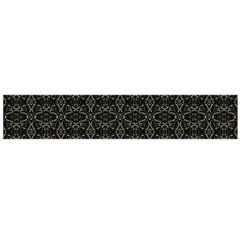 Dark Interlace Tribal  Flano Scarf (large)  by dflcprints