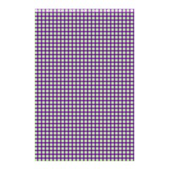 Mardi Gras Purple Plaid Shower Curtain 48  X 72  (small)  by PhotoNOLA