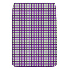 Mardi Gras Purple Plaid Flap Covers (s)  by PhotoNOLA