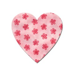 Watercolor Flower Patterns Heart Magnet by TastefulDesigns
