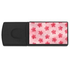 Watercolor Flower Patterns Usb Flash Drive Rectangular (4 Gb) by TastefulDesigns