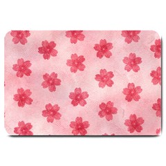 Watercolor Flower Patterns Large Doormat  by TastefulDesigns