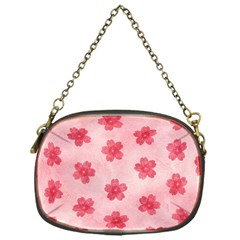 Watercolor Flower Patterns Chain Purses (one Side)  by TastefulDesigns